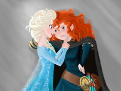 Elsa x Merida by Bekwo
