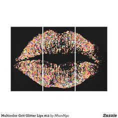 Shop Multicolor Grit Glitter Lips Canvas Print created by NhanNgo. Glitter Lips, Wall Art Sets, Tapestry, Canvas Prints, Design, Hanging Tapestry, Sparkle Lips, Photo Canvas Prints, Lip Gloss