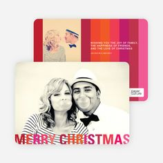Modern Christmas Cards: Stripes by Paper Culture