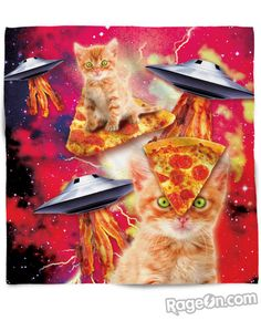 Bacon Pizza Space Cat Bandana - RageOn! - The World's Largest All-Over-Print Online Store