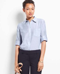 Tall Bayview Stripe Camp Shirt