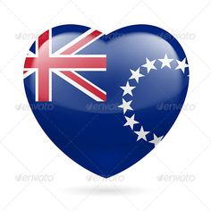 Heart Icon of Cook Islands  #graphicriver
