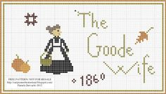 Our Pioneer Homestead: *Updated* Free Pattern: Autumn Goode Wife 1860~