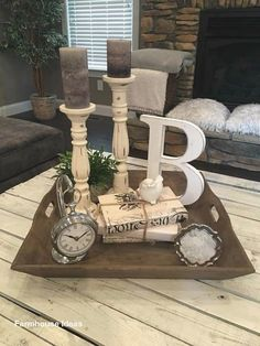modern farmhouse living room are readily available on our internet site. look at this and you wont be sorry you did. Shabby Chic Farmhouse, Farmhouse Style, Modern Farmhouse, Farmhouse Ideas, Cottage Style, Budget Planer, Decorating Coffee Tables, Coffee Table Candle Decor, Tray Decor