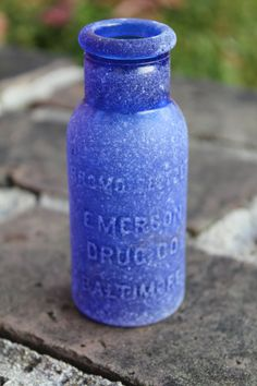 WOW intact cobalt apothecary bottle!
