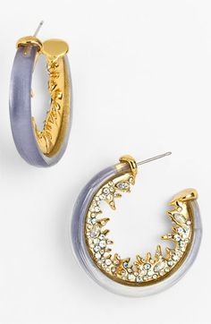 Alexis Bittar 'Dark Gardens' Thorn Hoop Earrings available at Nordstrom
