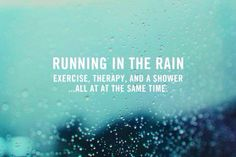 Love running in the rain!