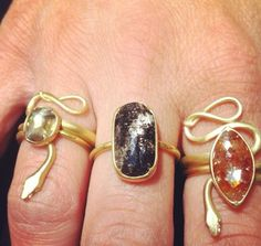 Love a good snake ring! Gabriella Kiss available @QUADRUM- photo credits: www.instagram.com/jewelry_maven