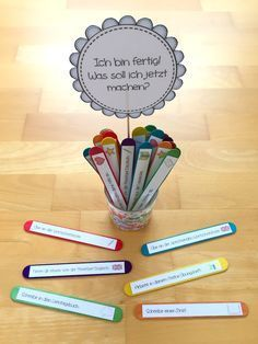 materialwiese: Lösung für: Ich bin fertig. Was soll ich jetzt machen? in der Grundschule