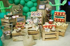 Favors + Sweets Display from a Little Cowboy Birthday Party via Kara's Party Ideas | KarasPartyIdeas.com (10)