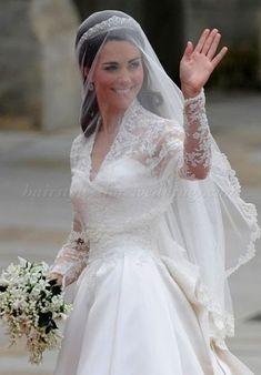 Kate Middleton finger tip length wedding veil