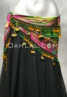 Dahlal Internationale Store - Egyptian PEACOCK BEADED CROCHETED SCARF, for Belly Dance, $40.00 (http://www.dahlal.com/egyptian-peacock-beaded-crocheted-scarf-for-belly-dance/)