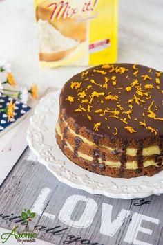 Tort fara gluten cu portocale, ciocolata si un concurs
