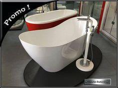 Cada de baie ovala Lenna freestanding, din compozit Bathtub, Bathroom, Standing Bath, Washroom, Bathtubs, Bath Tube, Full Bath, Bath, Bathrooms