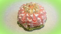 "Цветок канзаши,  лепесток ""ушки"",  МК / DIY satin ribbon flower, kanzashi"