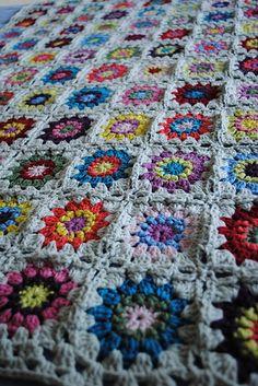 Amazing crocheted blanket
