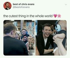 Chris Evans seeing a baby with a Captain America shirt on Funny Marvel Memes, Dc Memes, Avengers Memes, Marvel Jokes, Marvel Dc, Marvel Actors, Capitan America Chris Evans, Chris Evans Captain America, Disney Logo