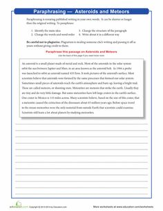 Paraphrasing and summarizing worksheets your own research
