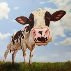 Cow Canvas, Canvas Wall Art, Cow Painting, Painting Prints, Creation Photo, Animation, Artist Canvas, Canvas Art Prints, Framed Art