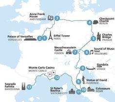 Eurorail map. Where to go next?