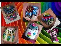 Diseño de uñas Pies Mandalas - Mandala Toenail Art - YouTube Pedicure Nail Art, Toe Nail Art, Manicure, Cute Toe Nails, Cute Toes, Nail Care, Nail Designs, Lily, Youtube