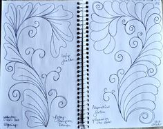 May Your Bobbin Always Be Full: Blog Sketch Book....Designs on a Spine Lots of Sketch books and designs.