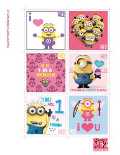 Personally I love the Minions and I wanted an army of my own. Well now I can do just that hahahahaha :D All these printables and crafts will assist me in my goal of a Minion army, especially the cu… Minion Valentine, Minion Birthday, Minion Party, Valentine Day Cards, Be My Valentine, Valentine Ideas, Birthday Ideas, 3rd Birthday, Birthday Cards