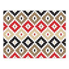 Shop Aztec Tribal Print Ikat Diamond Pattern Postcard created by SharonaCreations. Knitting Charts, Knitting Patterns, Russian Cross Stitch, Beaded Necklace Patterns, Creative Embroidery, Ikat Pattern, Tribal Prints, Cross Stitch Designs, Diamond Pattern