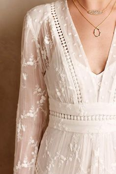 So Edwardian. I love it. || Arcana Silk Dress - anthropologie.com #anthrofave