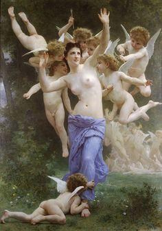William Adolphe Bouguereau (William Bouguereau) (1825-1905)Le GuêpierOil on canvas1892