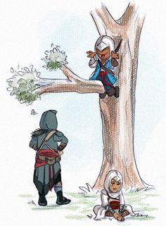 Nah nah nah by =Armide always wondered why Ezio and Altaïr can't climb trees? Makes no sense!