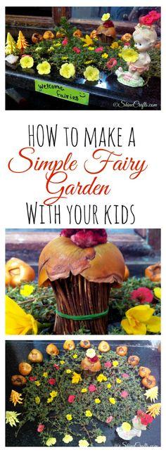 Simple Fairy Garden with Kids