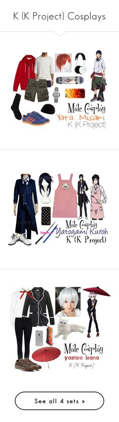 """K (K Project) Cosplays"" by lily-kun ❤ liked on Polyvore featuring Vince, Hollister Co., Barneys New York, Forever New, Burberry, Nixon, Casetify, adidas, men's fashion and menswear"