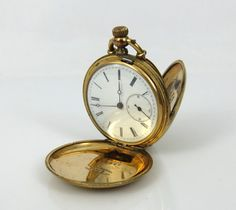 Key Set pocket Watch In Gold Filled Hunter Case Watch Company key Wind U S