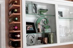 Wine storage shelves. I have the perfect place for this in my kitchen.