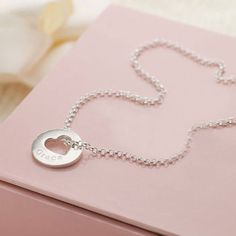 Personalised Hope Open Heart Necklace Give the gift of hope and love to a special girl with this beautiful contemporary necklace. A simple and yet sophisticated design that can be loved and worn by girls of all ages and treasured forever. http://www.MightGet.com/january-2017-13/personalised-hope-open-heart-necklace.asp