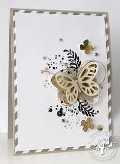 We love this card made with the Awesomely Artistic stamp set. Pretty Cards, Cute Cards, Diy Cards, Karten Diy, Stamping Up Cards, Butterfly Cards, Card Making Inspiration, Sympathy Cards, Creative Cards