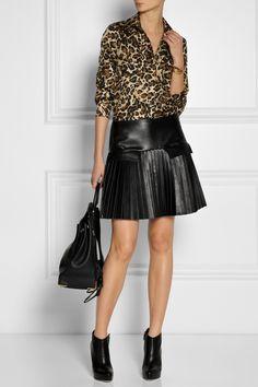 Tamara Mellon|Leopard-print silk-twill blouse|NET-A-PORTER.COM
