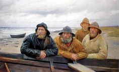 "Michael Ancher ""Pêcheurs de Skagen"""