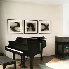 From the same project, The curvilinear line of the piano is reflected in the art by @neillartstudio Original charcoal on paper. #drawings #blackandwhite #steinway