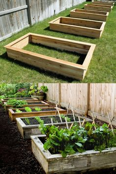 28 Best DIY raised bed gardens: easy tutorials, ideas & designs to build raised beds or vegetable & flower garden box planters with inexpensive materials! - A Piece of Rainbow backyard, landscaping, gardening tips, homesteading Vegetable Planters, Backyard Vegetable Gardens, Small Backyard Landscaping, Vegetable Garden Design, Landscaping Ideas, Backyard Ideas, Metal Raised Garden Beds, Building Raised Garden Beds, Raised Beds