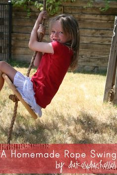 Get the kids outside with a simple DIY rope swing made with inexpensive materials from the hardware store and a few easy knots! No cutting required.