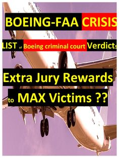 I'm reading FAA-BOEING Crisis. List of Criminal Boeing Verdicts. Extra Reward to Victims?? Court Cases UPDATE. on Scribd Chinook Helicopters, Investigations, Textbook, Resume, Trust, Safety, Public, Cases, Education