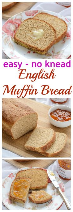 Whole Wheat English Muffin Bread How to make bread that tastes just like an English muffin but is so much quicker and easier! This recipe uses whole-wheat flour, and there is absolutely no kneading. Perfect for even beginning bread bakers! Whole Wheat English Muffin, English Muffin Bread, English Muffins, Muffin Recipes, Bread Recipes, Cooking Recipes, Cooking Bread, Bread Baking, Baking Soda