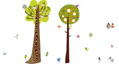 """pop & lolli """"two tall trees"""" fabric wall decals"""