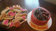 Brittany Snyder:  BBQ Grill Cake and hot dog, hamburger and watermelon cookies.