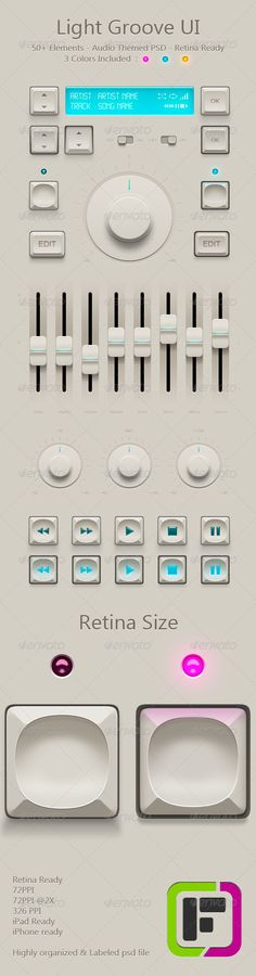 Light Groove UI - GraphicRiver Item for Sale