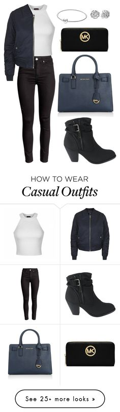 """Casual #34"" by chaaaantelle01 on Polyvore featuring MICHAEL Michael Kors, Pandora, Ally Fashion, Topshop and Michael Kors"