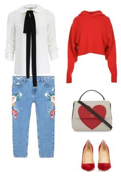 """""""Untitled #1"""" by explorer-14834658438 ❤ liked on Polyvore featuring MANGO, Michael Kors, TIBI, Christian Louboutin and Kate Spade"""