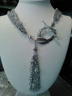 Silver Twig Clasp Leaf Necklace by Roger Kaiser The Crafty Guy
